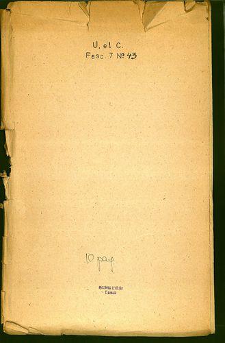 HU MNL OL E 156 - a. - Fasc. 007. - No. 043.