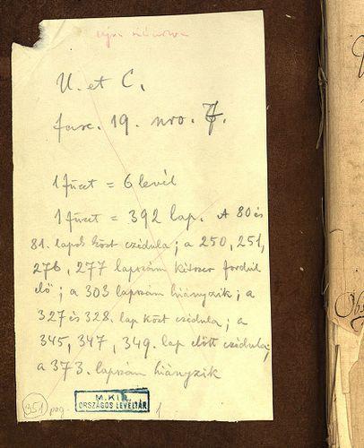HU MNL OL E 156 - a. - Fasc. 019. - No. 007.