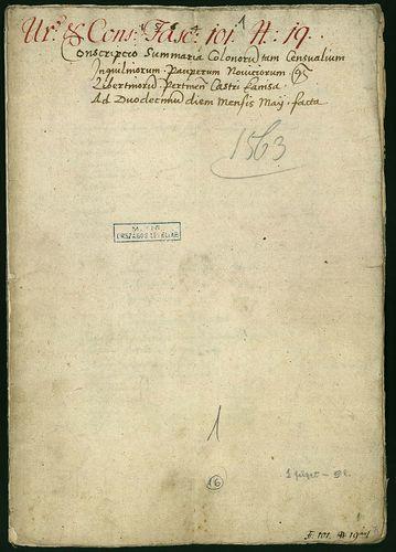 HU MNL OL E 156 - a. - Fasc. 101. - No. 019.