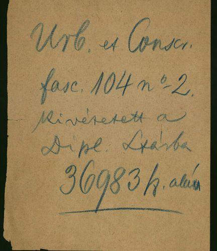 HU MNL OL E 156 - a. - Fasc. 104. - No. 002.