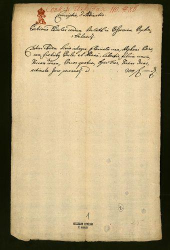HU MNL OL E 156 - a. - Fasc. 110. - No. 086.