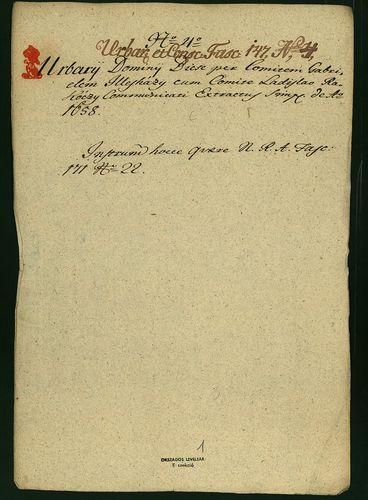 HU MNL OL E 156 - a. - Fasc. 147. - No. 004.