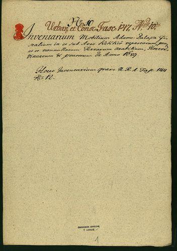 HU MNL OL E 156 - a. - Fasc. 147. - No. 010.