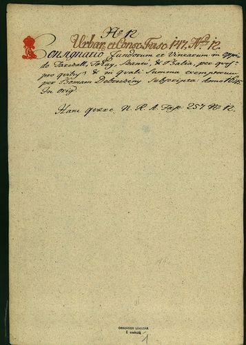 HU MNL OL E 156 - a. - Fasc. 147. - No. 012.