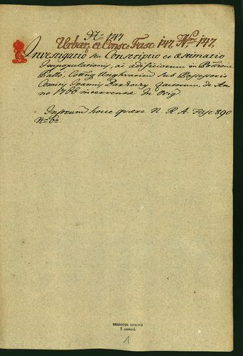 HU MNL OL E 156 - a. - Fasc. 147. - No. 147.