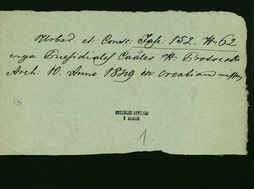HU MNL OL E 156 - a. - Fasc. 152. - No. 062.