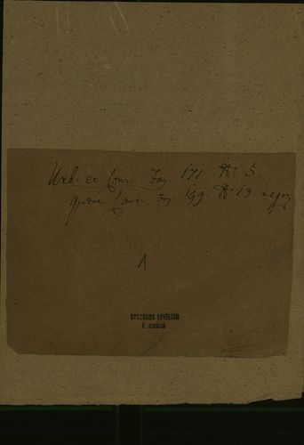 HU MNL OL E 156 - a. - Fasc. 171. - No. 005.