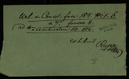 HU MNL OL E 156 - a. - Fasc. 184. - No. 001.