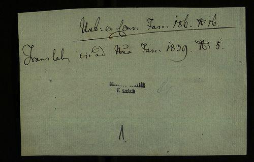 HU MNL OL E 156 - a. - Fasc. 186. - No. 016.