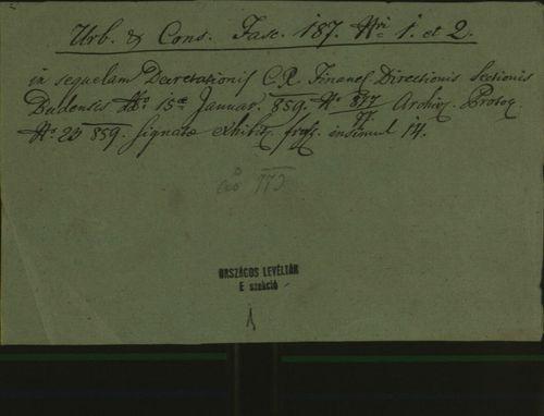 HU MNL OL E 156 - a. - Fasc. 187. - No. 002.