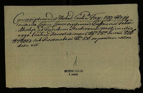 HU MNL OL E 156 - a. - Fasc. 189. - No. 014.