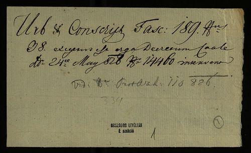 HU MNL OL E 156 - a. - Fasc. 189. - No. 038.