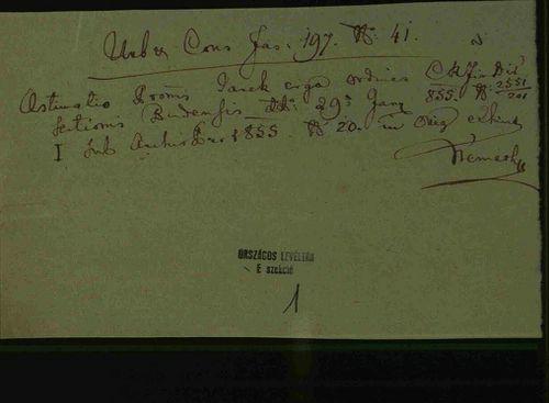 HU MNL OL E 156 - a. - Fasc. 197. - No. 041.