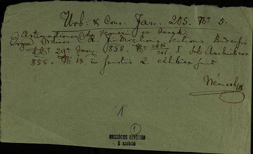 HU MNL OL E 156 - a. - Fasc. 205. - No. 005.