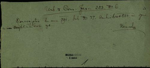 HU MNL OL E 156 - a. - Fasc. 205. - No. 006.
