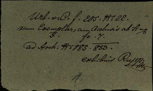 HU MNL OL E 156 - a. - Fasc. 205. - No. 022.