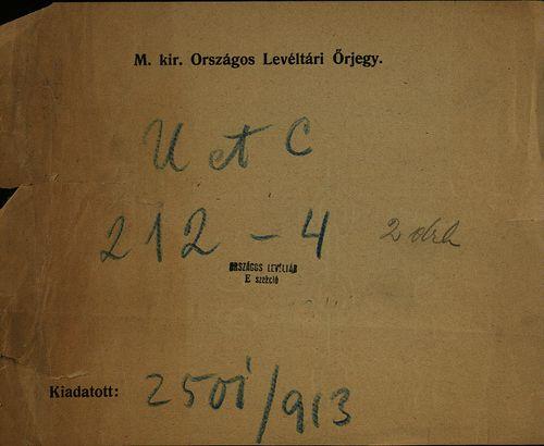 HU MNL OL E 156 - a. - Fasc. 212. - No. 004.