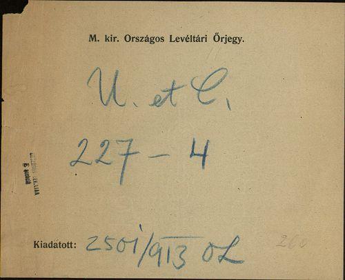 HU MNL OL E 156 - a. - Fasc. 227. - No. 004.