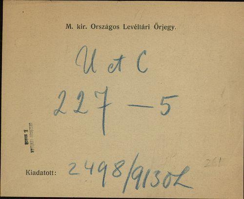 HU MNL OL E 156 - a. - Fasc. 227. - No. 005.