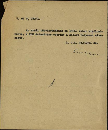 HU MNL OL E 156 - a. - Fasc. 232. - No. 001.