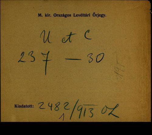 HU MNL OL E 156 - a. - Fasc. 237. - No. 030.