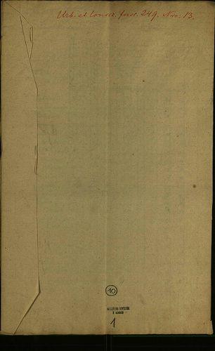 HU MNL OL E 156 - a. - Fasc. 249. - No. 013.